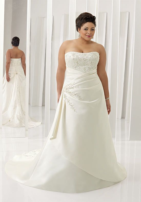 1000  images about Elegant plus size wedding dresses on Pinterest ...