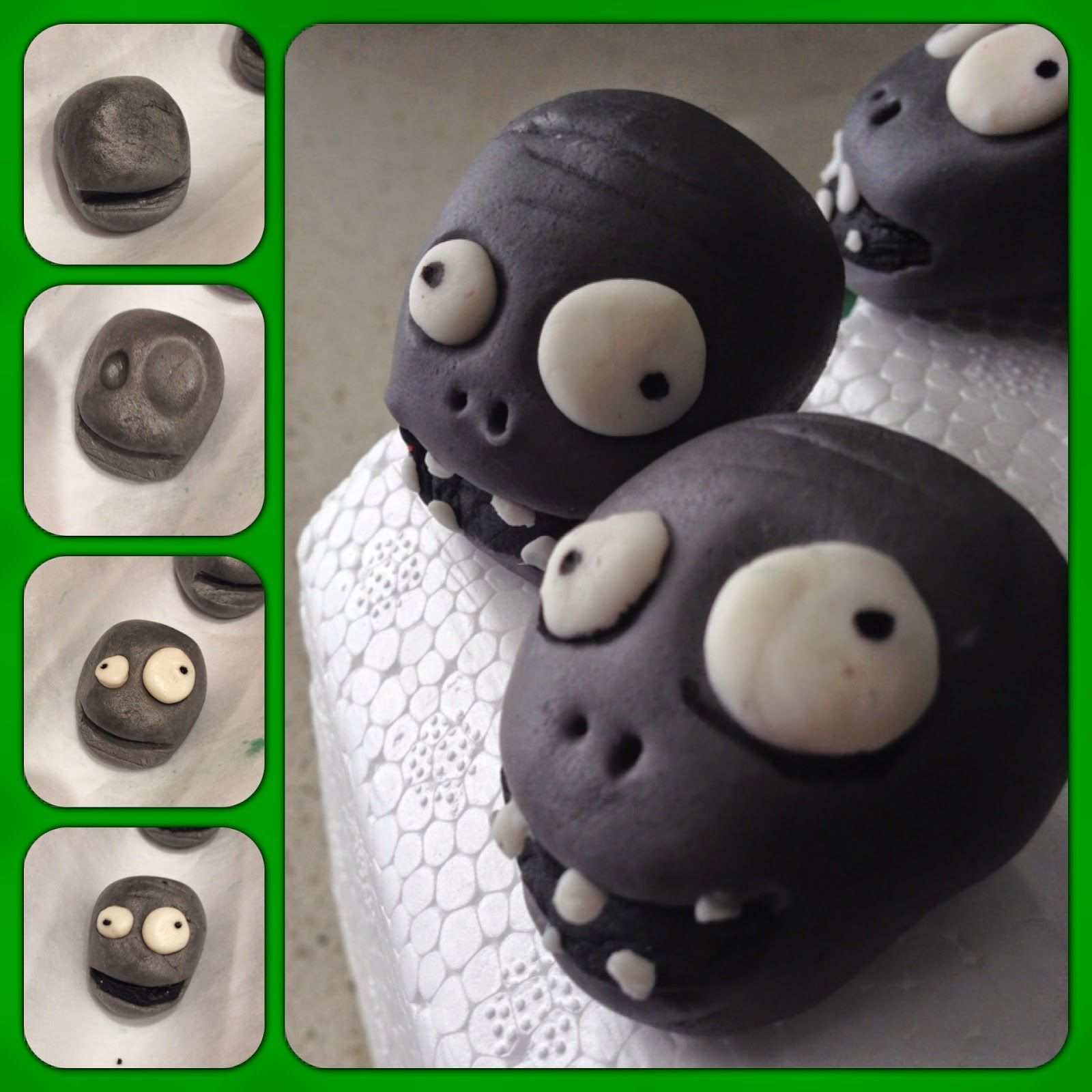 Zombies cupcake toppers Plants vs Zombies Picture Tutorials