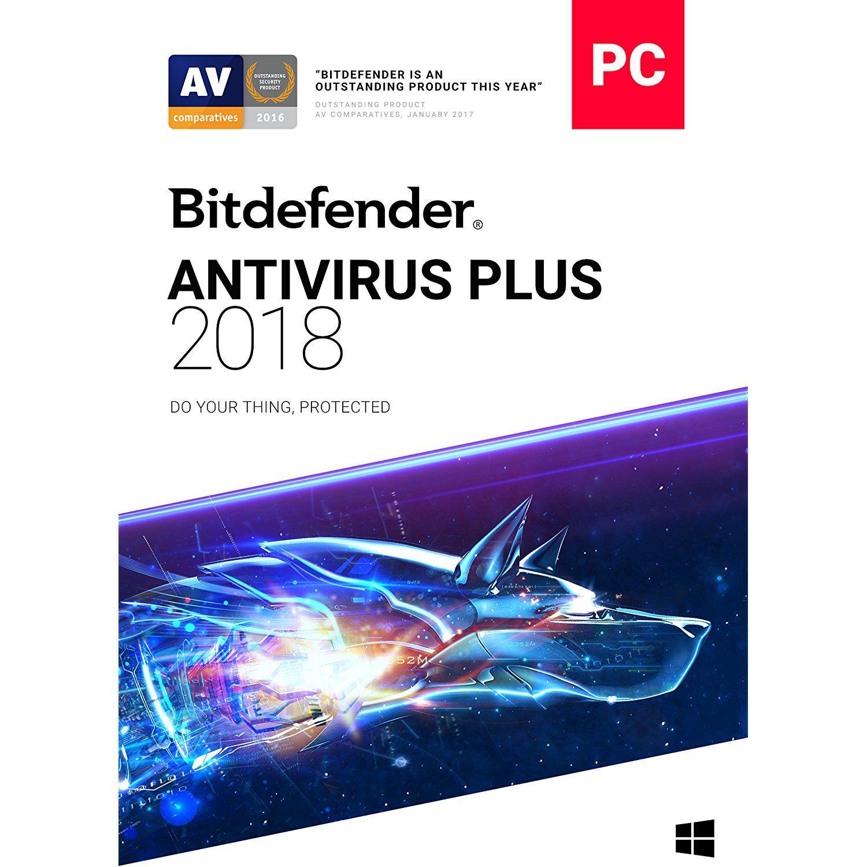Bitdefender Antivirus Plus 2018 1 PC, 1 Year Download