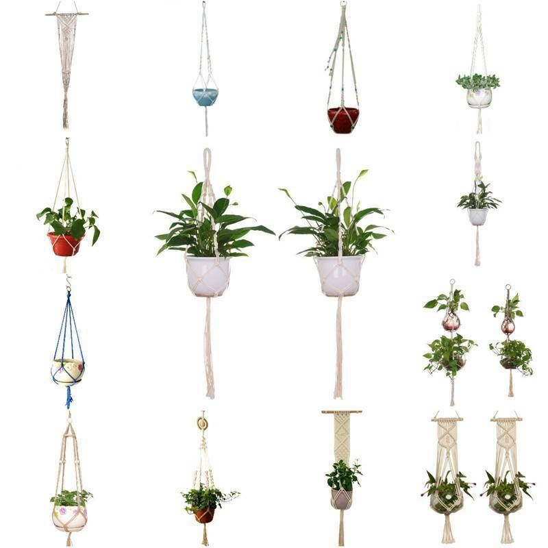 Macrame Rope Plant Hanger Garden Flower Pot Holder Hanging Basket Decoration Plant Holder Flower Pot Hanger Hanging Flower Baskets Plants For Hanging Baskets