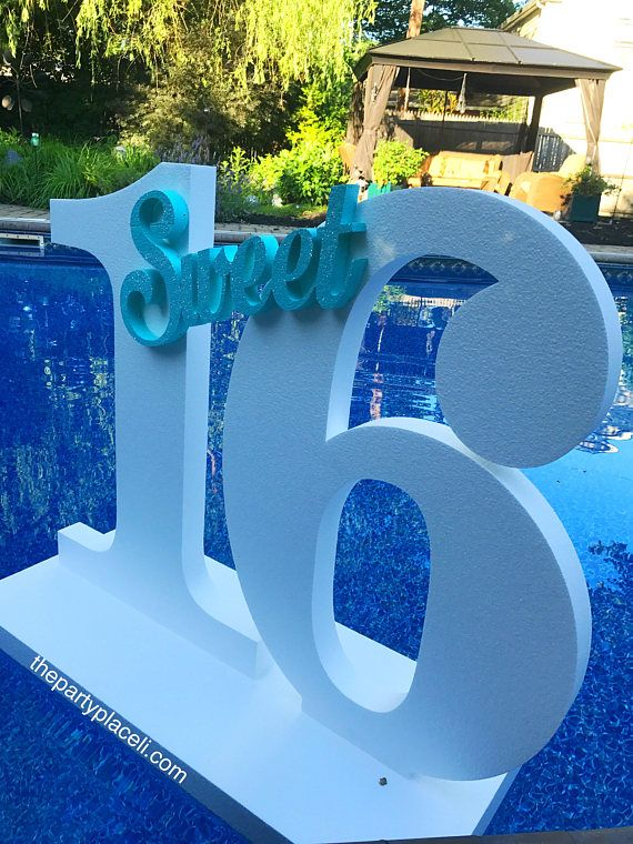 Pool Party Decoration Floating Prop Giant Numbers Or