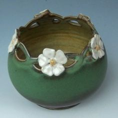 Art Nouveau Inspired Pottery By Maid Of Clay Pottery Art Pottery Designs Clay Pottery
