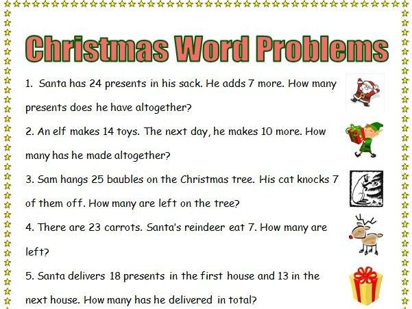 Christmas Maths bundle KS1 KS2 word problems investigations - christmas card word