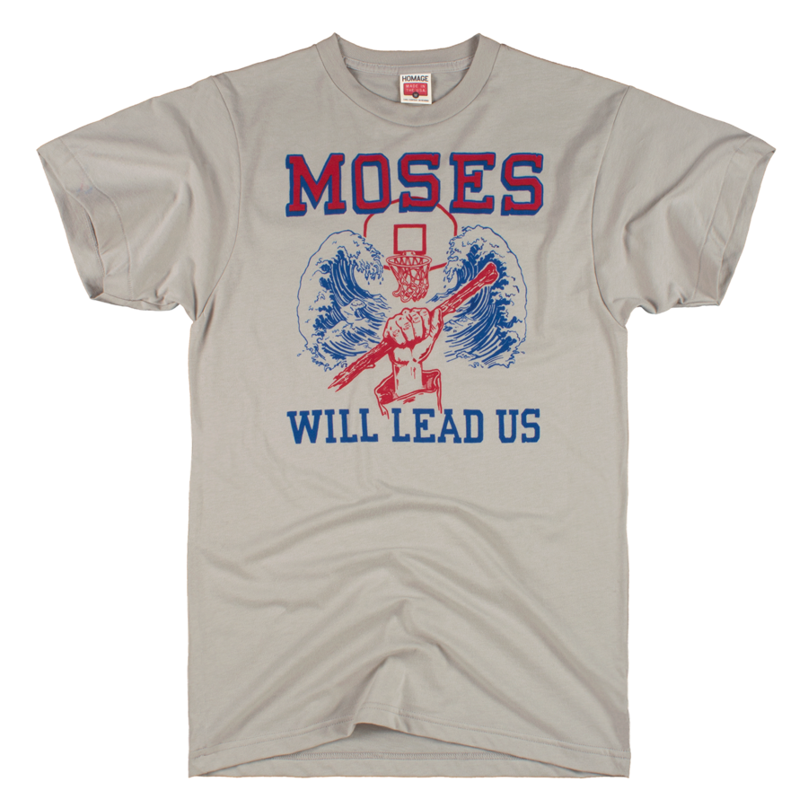 5d09563a5 HOMAGE Moses Malone Will Lead Us Philadelphia 76ers NBA Champs T-Shirt -   28.00
