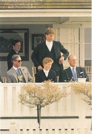 The Prince of Wales with his sons Princes William and Harry and his father, Prince Philip.
