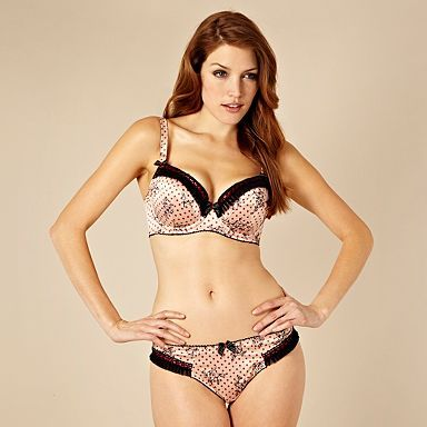 Natural floral spotted D-G balcony bra - Gorgeous