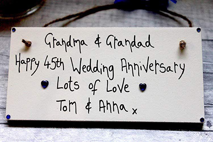45th sapphire anniversary for grandma grandad personalized