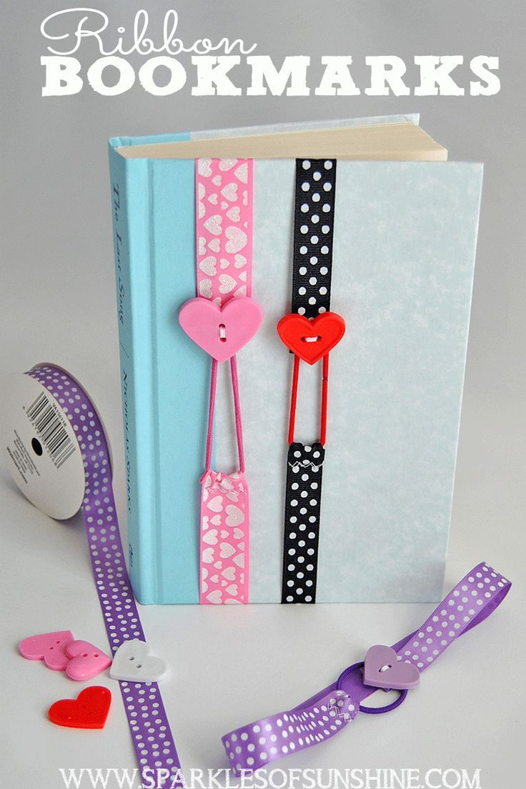 ribbon bookmarks | valentines | pinterest | crafts, diy and easy crafts