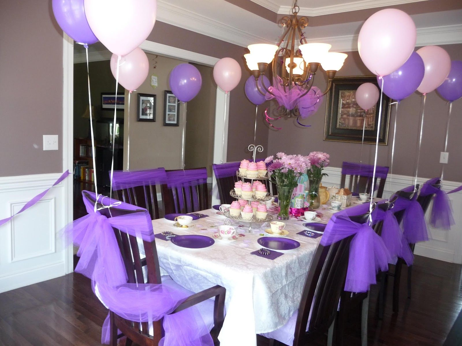 Table decoration for party - Lavender Table Decorations Trianglemommies Throwing A Princess Tea Party