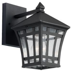 Sea Gull Lighting Herrington 1-Light Outdoor Black Wall Fixture-88131-12 at The Home Depot