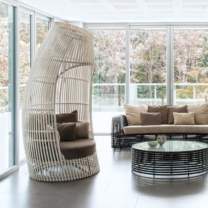 Loungesessel Lolah (brown/whitewash) von Kenneth Cobonpue Kenneth - designer gartenmobel kenneth cobonpue