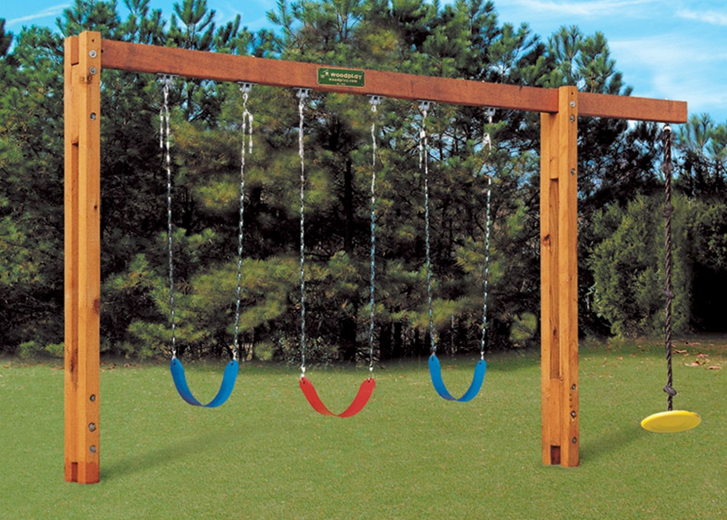 Freestanding Swingset Backyard Playground Backyard Swings Diy Playground