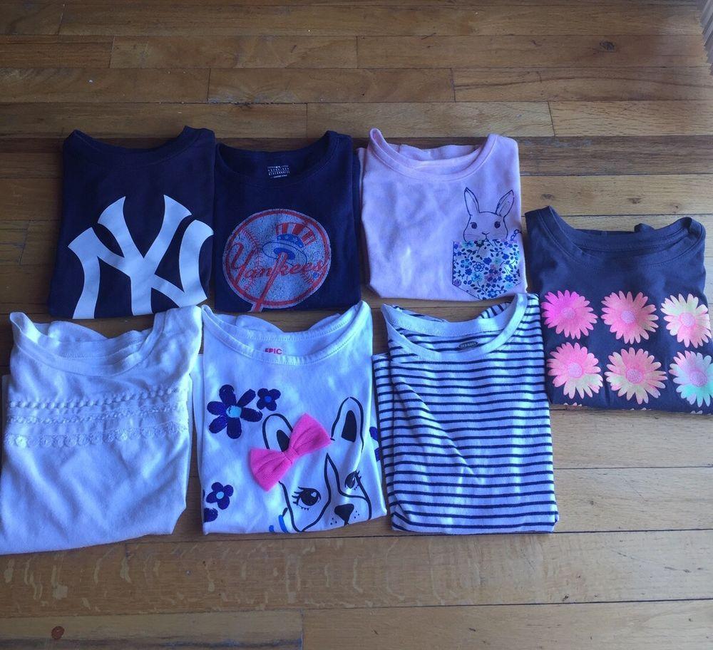 6 piece lot of toddler sz 5 t shirts yankees  3ba864e01bd
