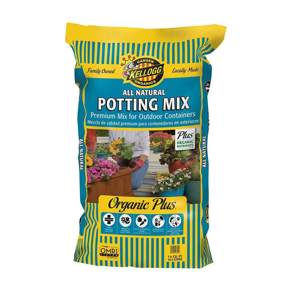 Kellogg Garden Organics 1 5 Cu Ft All Natural Premium Outdoor Potting Mix