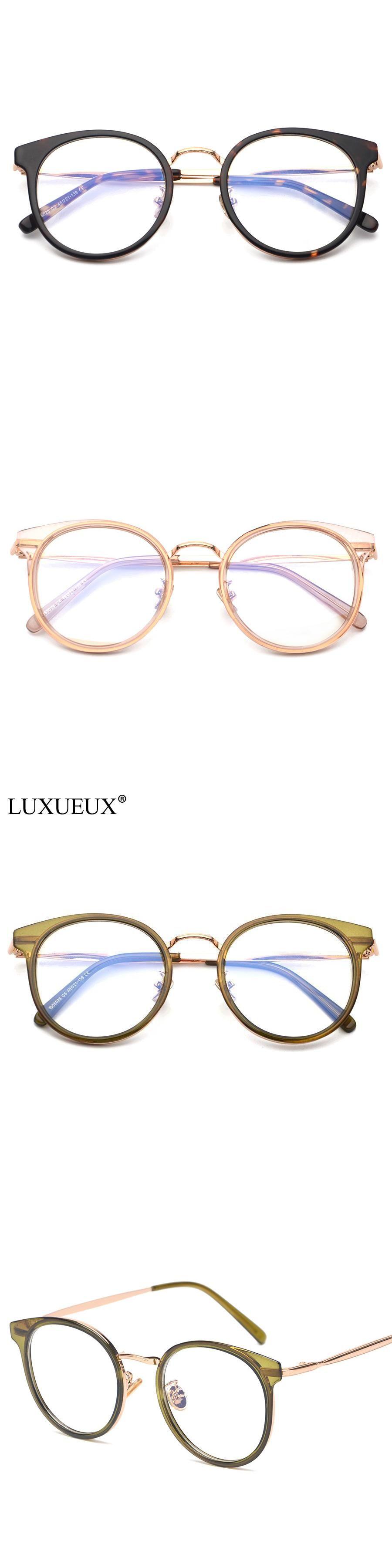 b451e8d0ef1 LUXUEUX New Arrival Retro Transparent Clear Lens Myopia Reading Glasses  Round Flat Mirror Frame Female TR90 Harajuku Eyeglasses