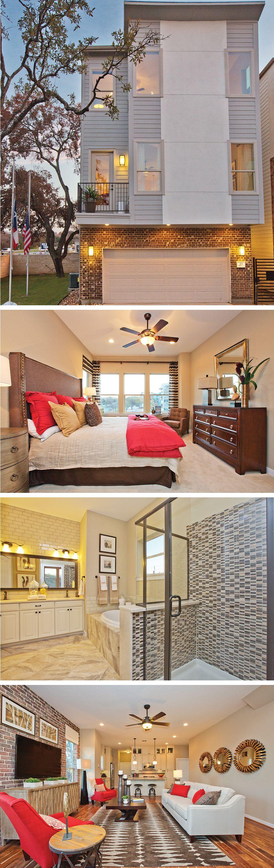 The Crockett By David Weekley Homes In Gardens At Urban Crest Is A Modern 3 Bedroom 3 Bath Floorplan That Modern Mansion Townhouse Designs Family Room Design