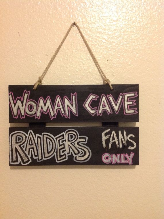 Photo of Items similar to Raiders Woman Cave Sign on Etsy