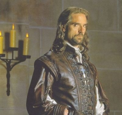 6aed0addeb Jeremy Irons as Aramis in the Man in the Iron Mask