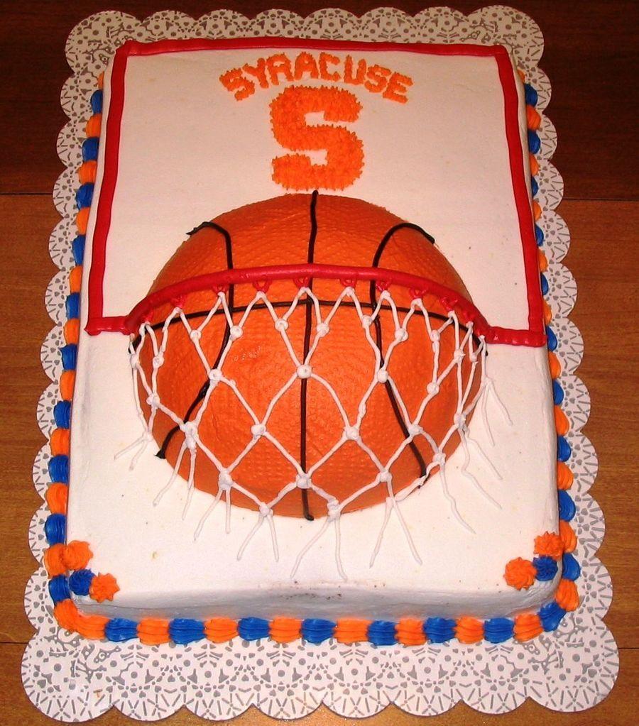 Go Orange Syracuse University March Madness Cake Basketball Cake Basketball Birthday Cake Basketball Birthday