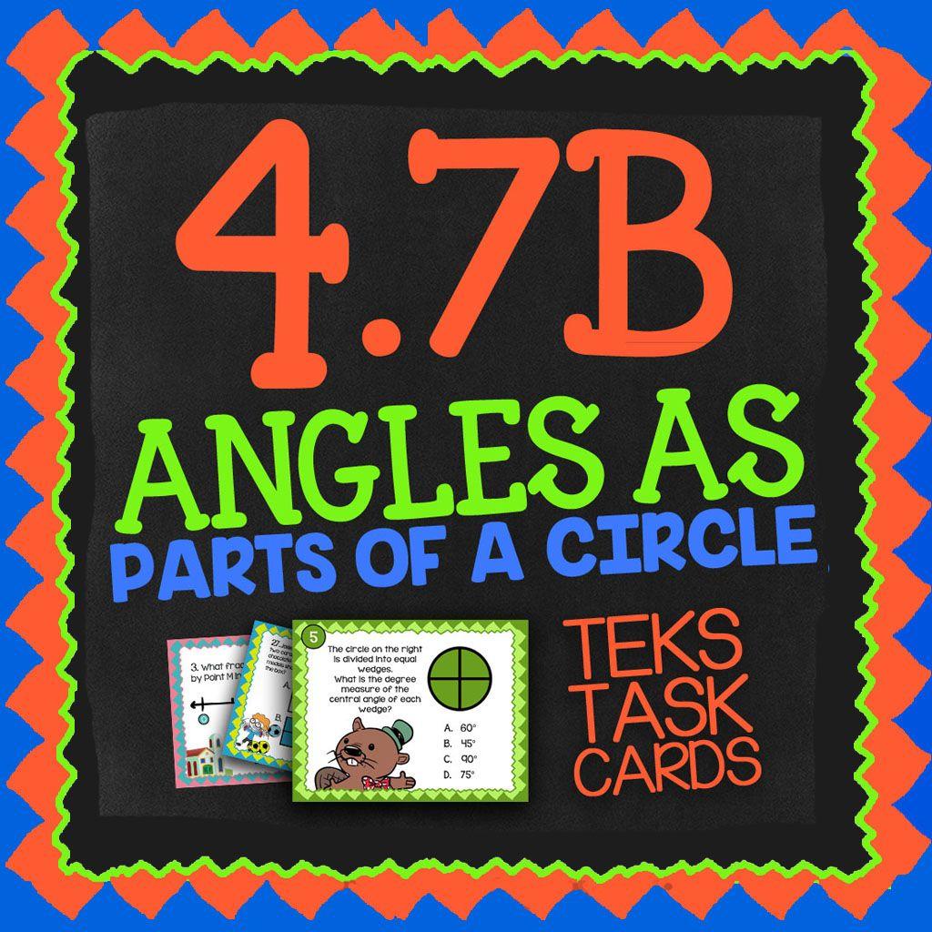 Math Tek 4 7b Angles As Parts Of A Circle 4th Grade