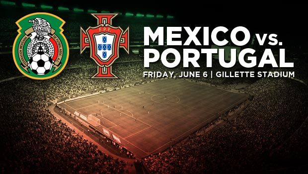 #14 v CR7? On the same pitch? In AMERICA? On their way to WC? People, this is ON!  See 'ya in Boston!  Portugal, Mexico to meet at Gillette Stadium on June 6, '14