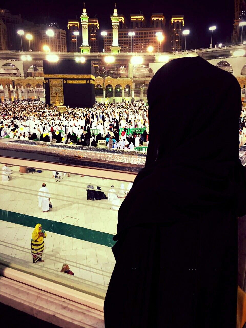 Image result for Girl in front of Kaaba