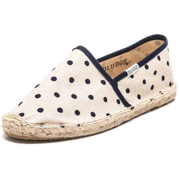 Polka Dot Espadrille Flat by None, via Polyvore