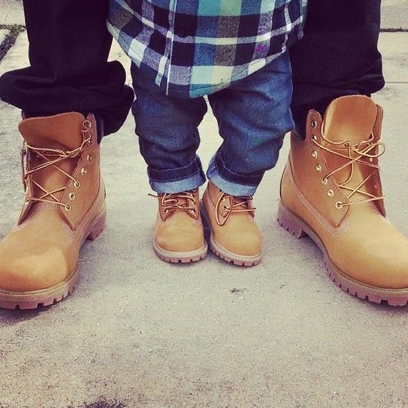 790ad8cc4 Pass down style #family #timberland #yellowboot | Iconic | Daddy ...