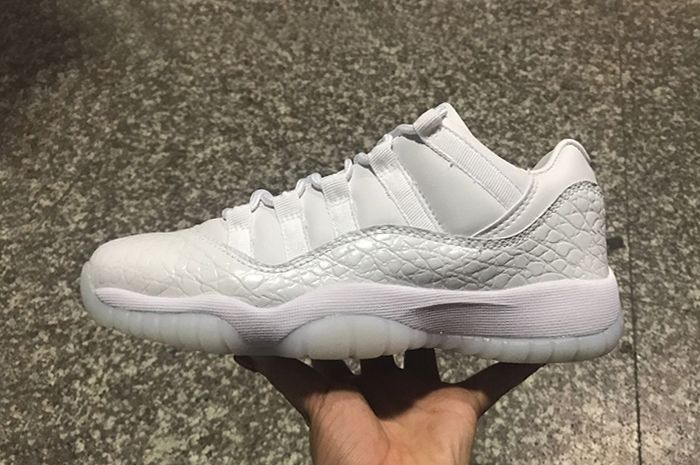 "a9569975486 All White Air Jordan 11 low-top Heiress PRM HC ""Frost White"" For Sale"