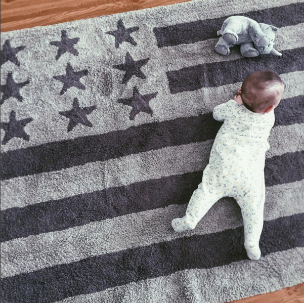 Superb Our Grey American Flag Rug Is Chic And Practical. Our Rugs Are 100% Cotton