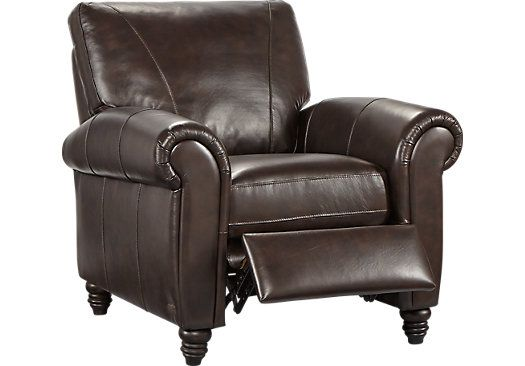 Enjoyable Cindy Crawford Home Lusso Coffee Bean Leather Recliner Ocoug Best Dining Table And Chair Ideas Images Ocougorg