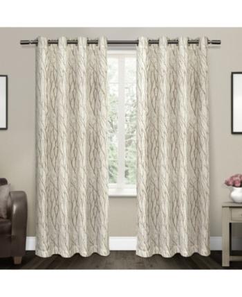 Exclusive Home Oakdale Motif Textured Sheer Linen Grommet Top