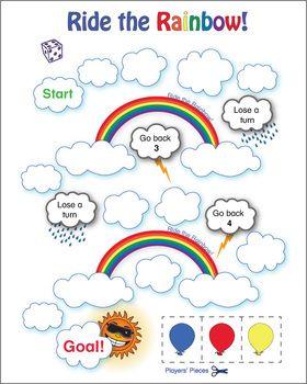 Esl Games Ride The Rainbow Riding The Rainbow Esl Games Rainbow Games