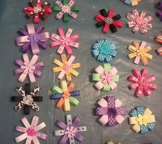 PENNY BID! Huge lot of 12 hair bows! Must have for your princess! #CambooluCreations
