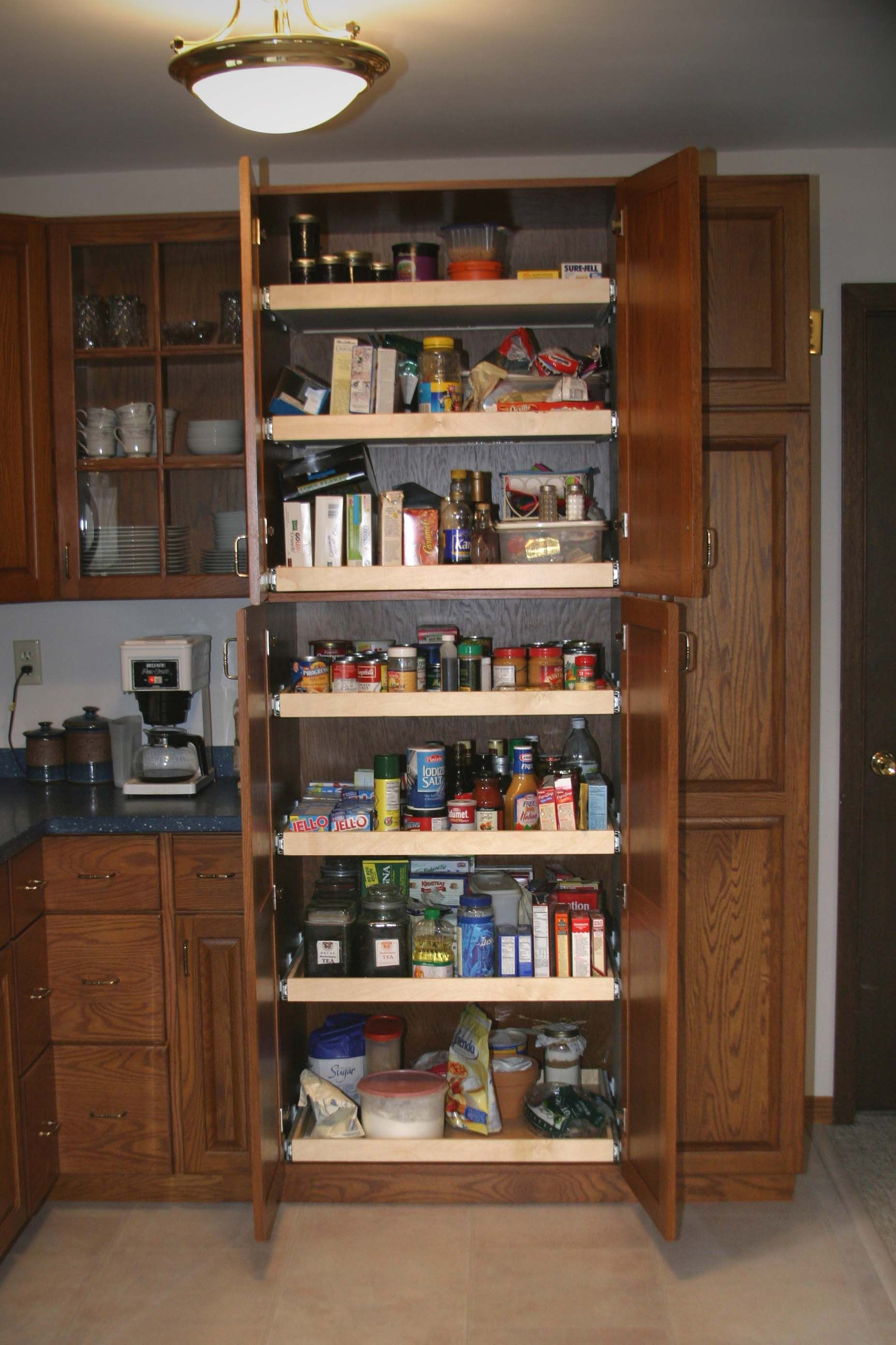 kitchen cabinets pull out pantry | pantry this pantry is 32 wide and ...