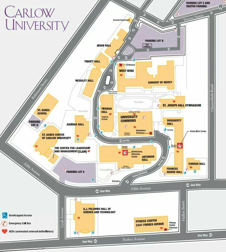 carlow university campus map Map Of Carlow University College Tour Carlow Nursing School carlow university campus map