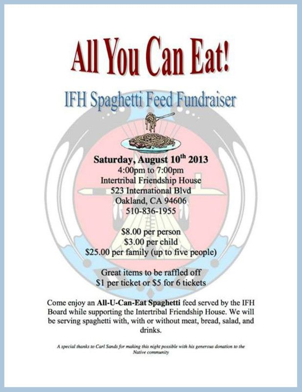 A Great Flyer/Invitation For A Spaghetti Dinner Fundraiser