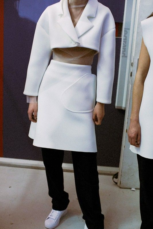 Backstage at Jacquemus AW14