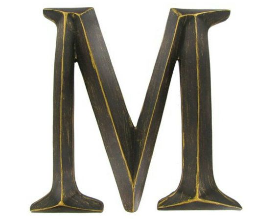 Bronze Letters Wall Letters Metal Wall Decor Letters Hanging