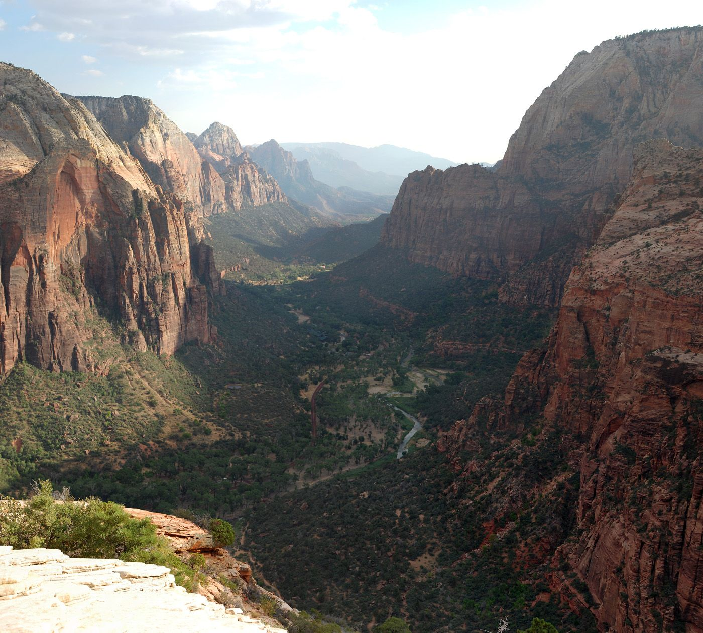 Mike Specian's Zion Canyon From Atop Angels Landing