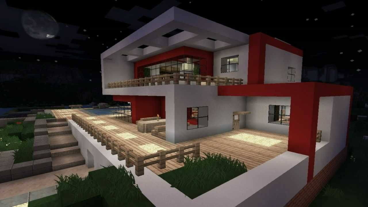 minecraft haus modern 04 minecraft pinterest. Black Bedroom Furniture Sets. Home Design Ideas