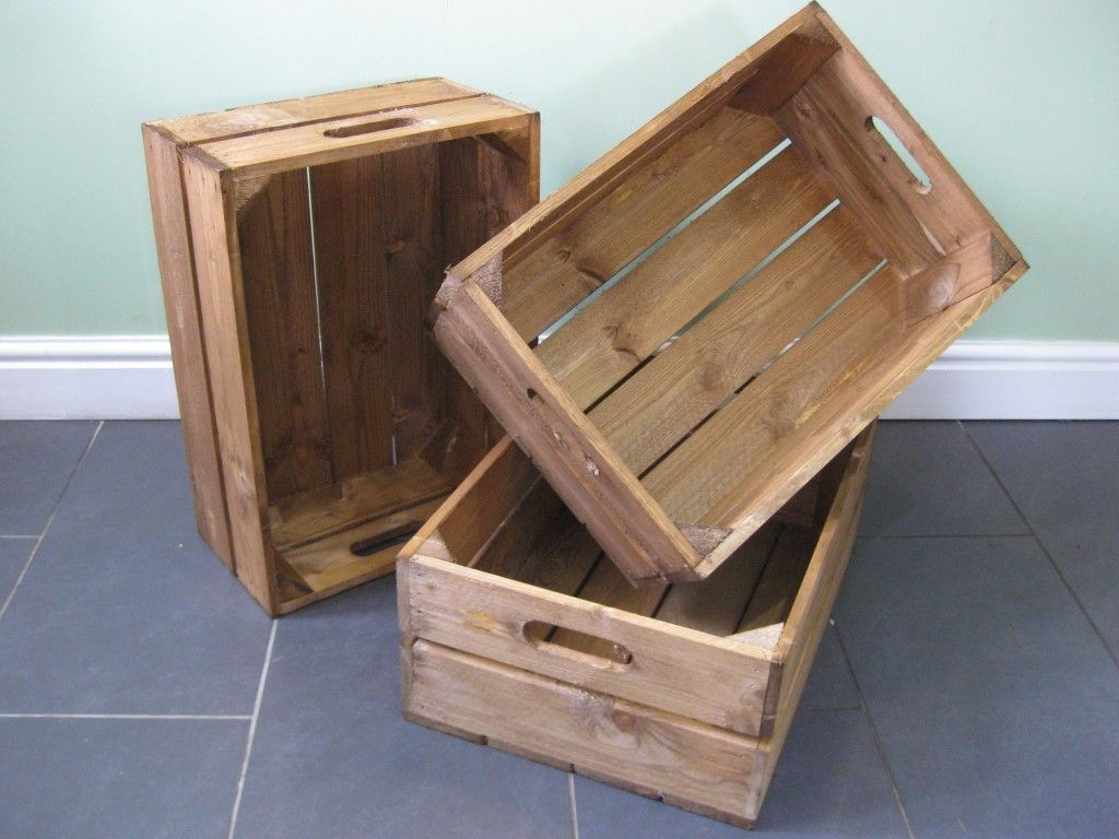 Light Brown Shallow Crates Home Ideas Wooden Crates Wood