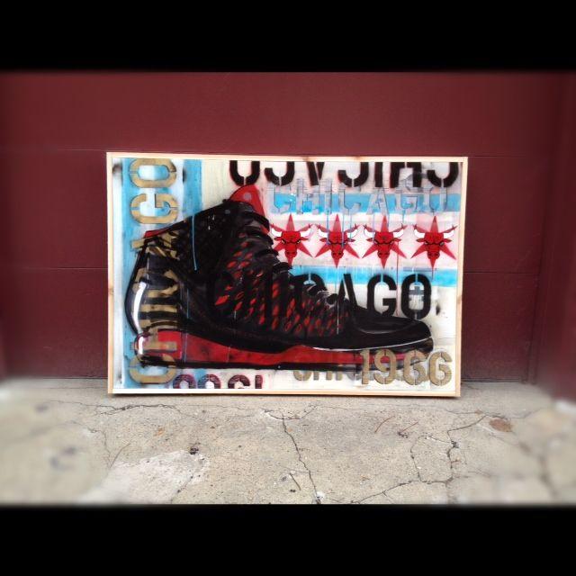 40x60 Inch Canvas Framed In 4 Inch Raw Cedar Acrylic And Spray