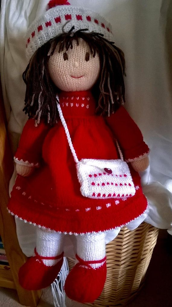 Hand knitted doll | Knits | Pinterest | Muñecas, Dos agujas y Juguetes