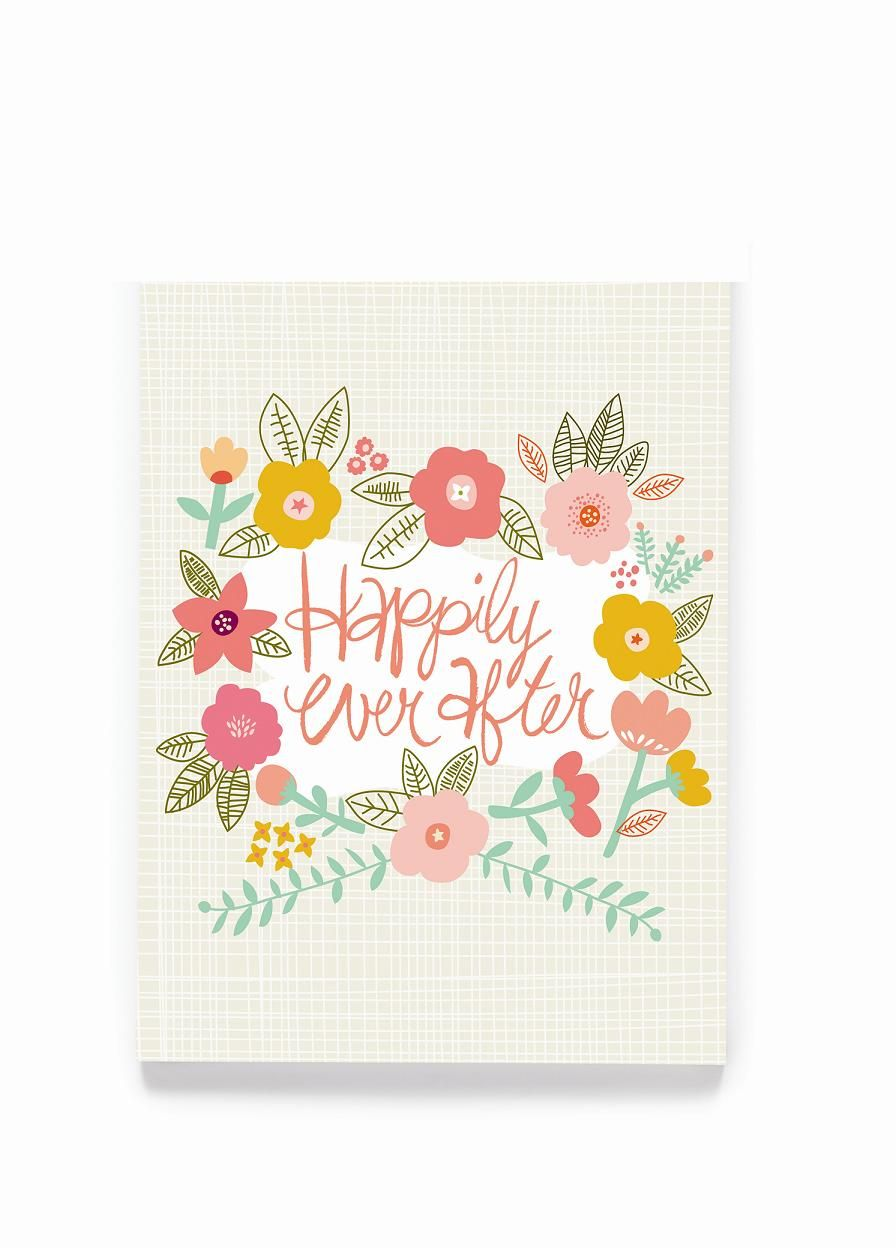 Congratulate the newly wed couple with this beautifully designed congratulate the newly wed couple with this beautifully designed happily ever after greeting card made from 100 recycled paper and printed with vegetable m4hsunfo