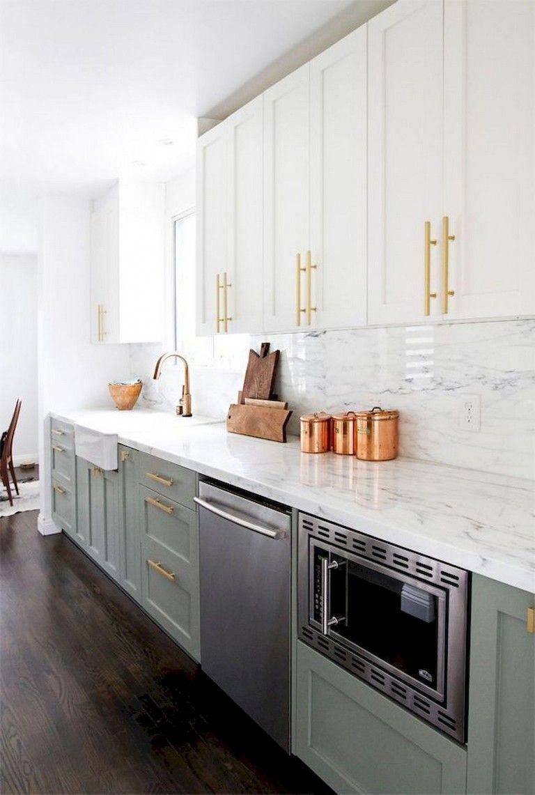 Designers Advise Focusing On Your Kitchen S Work Triangle Which Makes Up Of The Range The Si Green Kitchen Cabinets Modern Kitchen Cabinets Kitchen Renovation