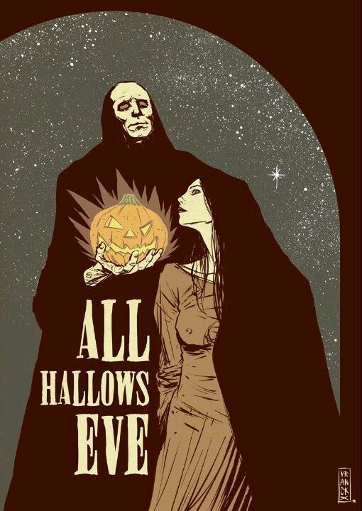 All Hallows Eve Halloween Illustration Halloween Art Vintage Halloween