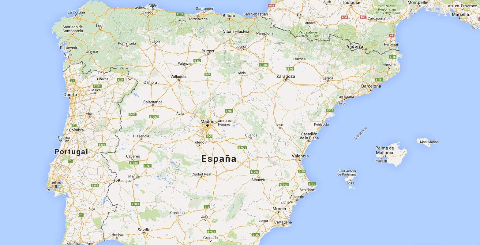 Merge of Datos paro 2t 2015 and Provincias España Peninsular y Baleares - Google Fusion Tables