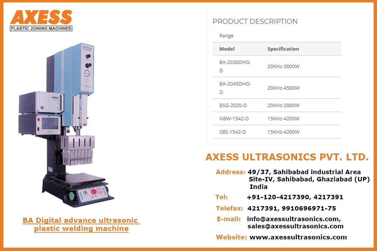 Ba Digital Advance Ultrasonic Plastic Welding Machine Plastic Welding Welding Machine Ultrasonic