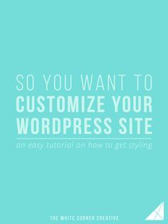 So You Want To Customize Your Wordpress Site Wordpress Design